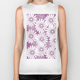 Summer Flowers Purple Biker Tank