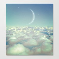 Dream Above The Clouds (Crescent Moon) Canvas Print