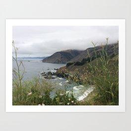 California Coastal Drive Art Print