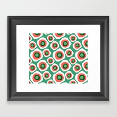 Fried Circles, Minty Yam Framed Art Print