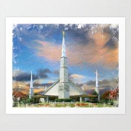 Dallas Texas LDS Temple Art Print