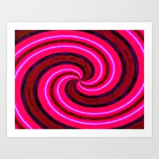 Abstract Pink Modern Art Print