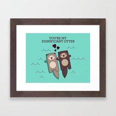 Significant Otter Framed Art Print