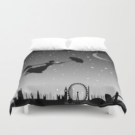 magical mary poppins Over London Duvet Cover