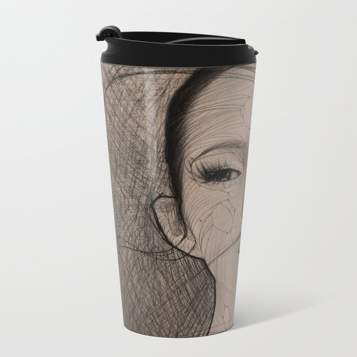 Stringy Girl Metal Travel Mug