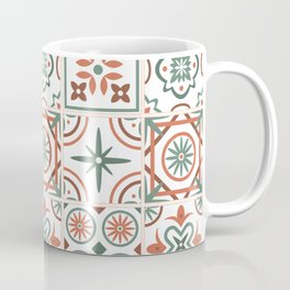 Talavera Spanish Tile - Rust & Sage Coffee Mug