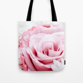 Pink Roses and Gerbera Daisy Flowers Wedding Bouquet, Love Photo, Romantic Celebration, Wall Art Tote Bag