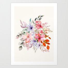Wildflowers Bouquet I Art Print