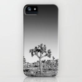 Monochrome Joshua Tree iPhone Case