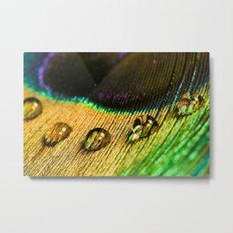 Colors Water Drops Metal Print