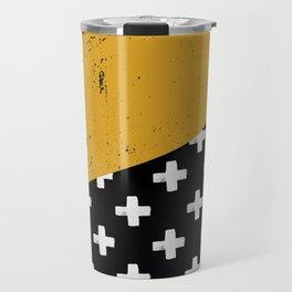Swiss crosses (grunge) Travel Mug