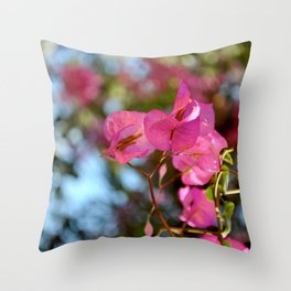 Pink in Nature Throw Pillow