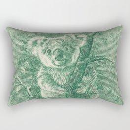 Vintage Koala Stamp Rectangular Pillow