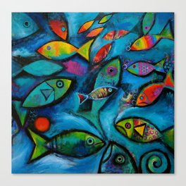 Plenty of fish in the sea Canvas Print