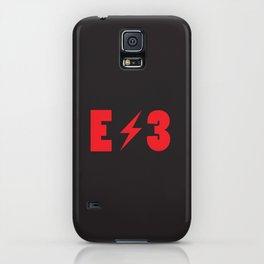 E3 black iPhone Case
