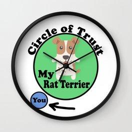 Circle Of Trust Cute Rat Terrier Wall Clock