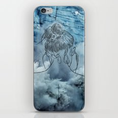 Lonely woman iPhone & iPod Skin