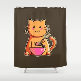 A cat's favourite meal Shower Curtain