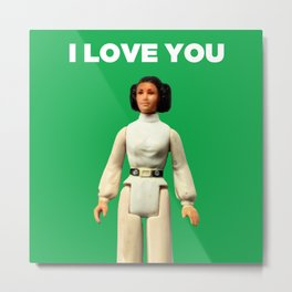 I Love You - Leia Metal Print