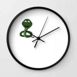 The More People I Meet More I Love Snakes T-Shirt Wall Clock
