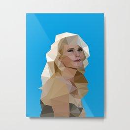 Cyan Blonde Metal Print