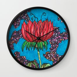 My Chinese Flower Wall Clock