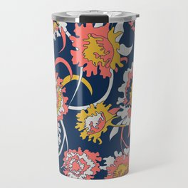 Bold Chinoiserie Floral - Limited Color Palette 2019 Travel Mug