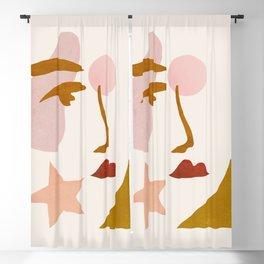 Abstraction_Minimalist_Face Blackout Curtain