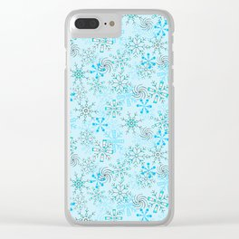 Snow Flurries Clear iPhone Case