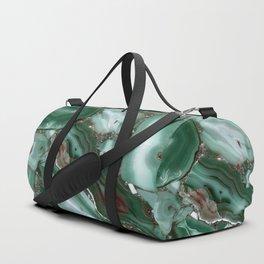 Luxury Malachite Marble Agate Duffle Bag