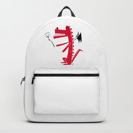 Happy Dragon with a Marshmallow Backpack