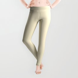 Gardenia Cream in an English Country Garden Leggings