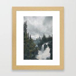 Athabasca Falls Alberta Framed Art Print