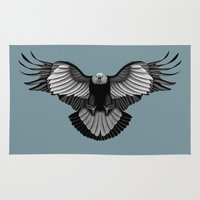 eagle Area & Throw Rugs featuring Eagle by Schwebewesen • Romina Lutz