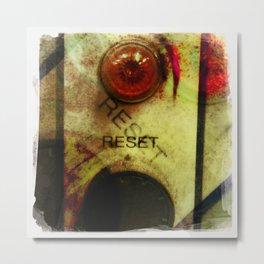 reset Metal Print