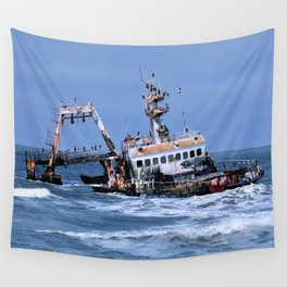 Shipwreck on the Coast of the Skeletons, Namibia Wall Tapestry