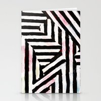 striped Stationery Cards featuring Striped by ST STUDIO