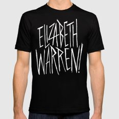 Elizabeth Warren! Black LARGE Mens Fitted Tee