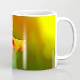 Electrified Orange Iris in the Garden Coffee Mug