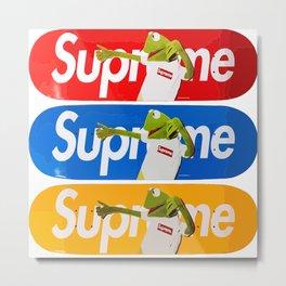 Supreme Kermit Skate Decks Metal Print