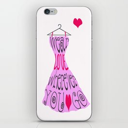 Wear Love Wherever You Go (Pink) iPhone Skin