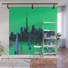 May arriving in New York - shoes stories Wall Mural