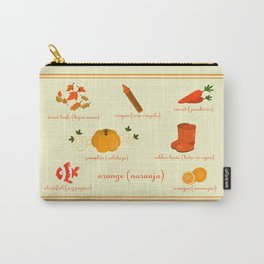 Colors: orange (Los colores: naranja) Carry-All Pouch