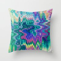 trippy Throw Pillows featuring Trippy by Dorothy Pinder