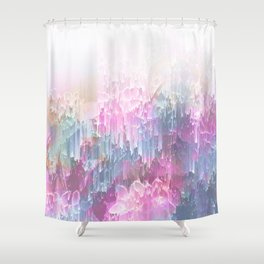 Magical Nature - Glitch Pink & Blue Shower Curtain