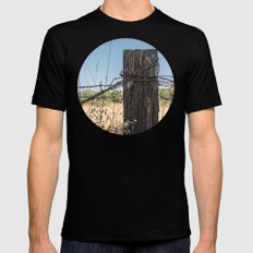 Old Fence Post X-LARGE Black Mens Fitted Tee