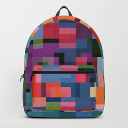 Colorful Squares Abstract Art Decim8 Home Decor Gift Backpack
