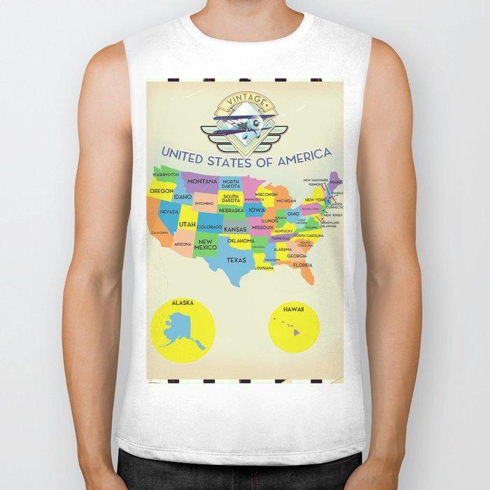 United States Map Vintage Style on united states map poster, united states map color, united states map 1860,