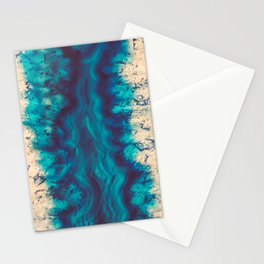 Blue Agate River of Earth Stationery Cards