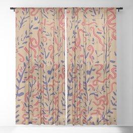 Indian Snakes Sheer Curtain